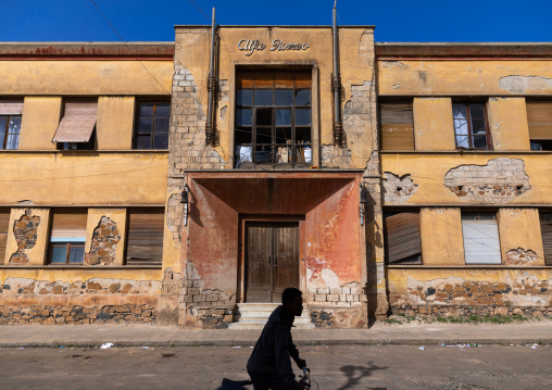Former apartments for Alpha Romeo from the italian colonial times built in 1937, Central region, Asmara, Eritrea