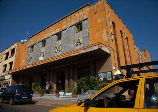Old art deco roma cinema from the italian times, Central region, Asmara, Eritrea