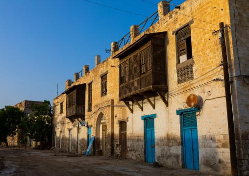 Ottoman architecture building with moucharabieh, Northern Red Sea, Massawa, Eritrea