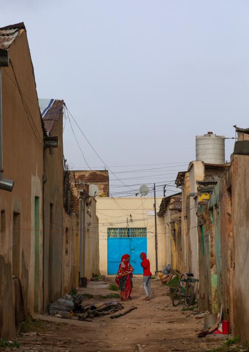 Eritrean women in the former native quarter, Central region, Asmara, Eritrea