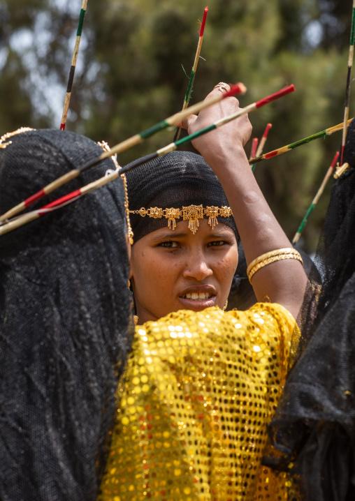 Afar tribe women during expo festival, Central region, Asmara, Eritrea