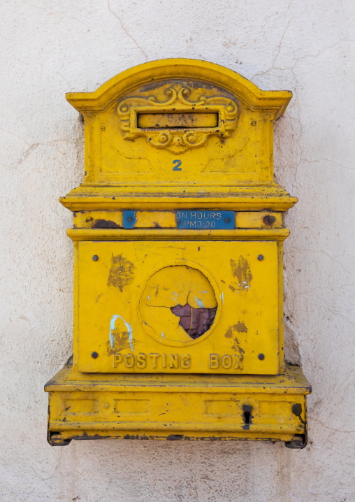 Letter box from englsih colonial times, Central region, Asmara, Eritrea