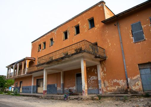 Old italian style building, Debub, Ghinda, Eritrea