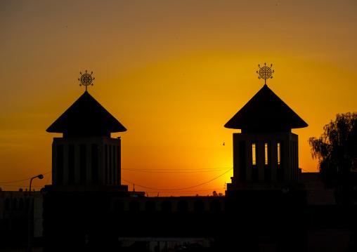 Sunset Over Enda Mariam Orthodox Cathedral, Asmara Eritrea, Central region, Asmara, Eritrea