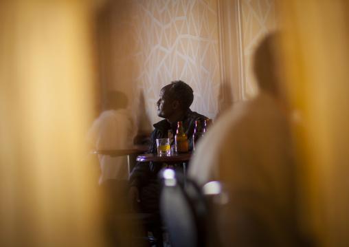 Man In A Bar, Debub, Dekemhare, Eritrea