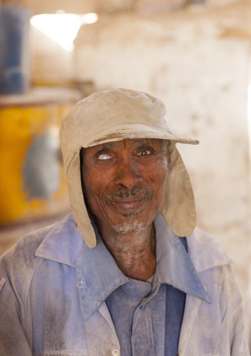 One Eyed Man In A Mill, Debub, Dekemhare, Eritrea
