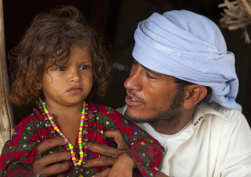 Rashaida Tribe Father And Daughter, Northern Red Sea, Massawa, Eritrea