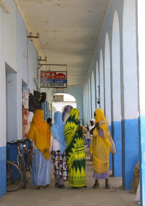 Women Chatting Under Arcades, Keren, Eritrea