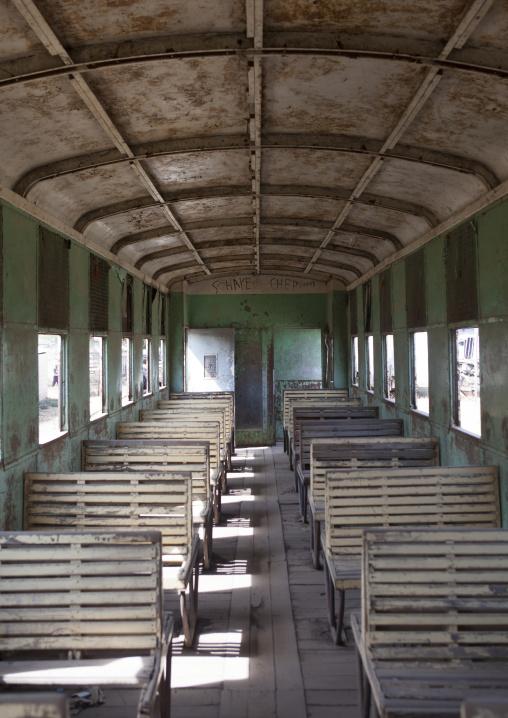 Inside Djibouti Addis Ababa Old Train Third Class, Dire Dawa Train Station, Ethiopia