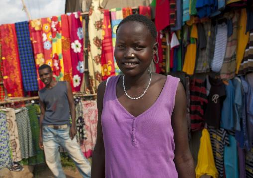 Westerned Mursi Woman At Jinka Market Omo Valley  Ethiopia