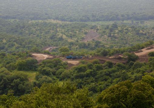 Coated Road Under Construction Landscape In Mago Park Omo Valley Ethiopia