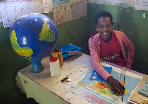 Teacher In A School, Tepi, Ethiopia