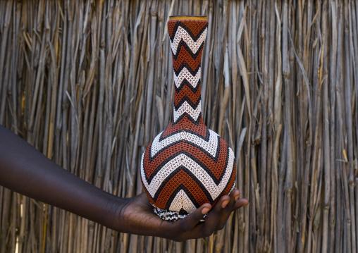 Anuak Tribe Decorated Coffee Pot, Gambela, Ethiopia