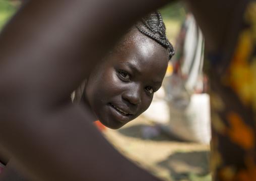 Anuak Tribe Woman With Nice Hairstyle, Gambela, Ethiopia