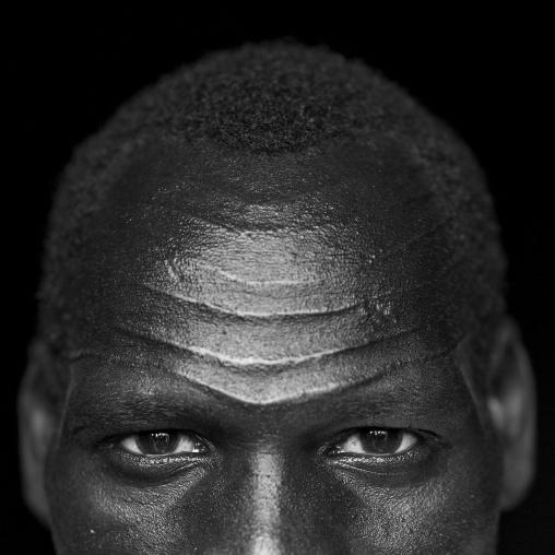 Mr Riang Wan, Nuer Tribe Man With Gaar Facial Markings, Gambela, Ethiopia