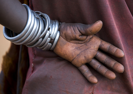 Bashada Tribe Woman Hands During A Bull Jumping Ceremony, Dimeka, Omo Valley, Ethiopia