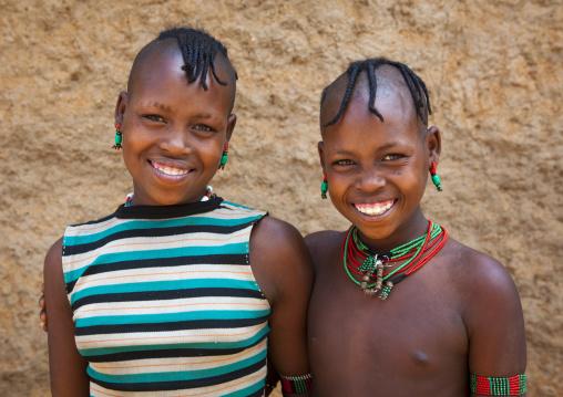 Hamer Tribe Girls, Dimeka, Omo Valley, Ethiopia