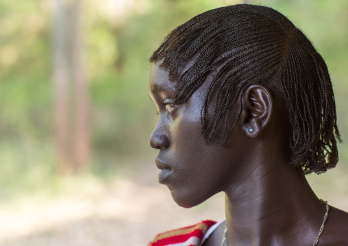 Majang Tribe Woman With Traditional Hairstyle, Kobown, Ethiopia