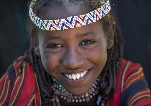 Afar Tribe Woman With Sharpened Teeth, Assaita, Afar Regional State, Ethiopia