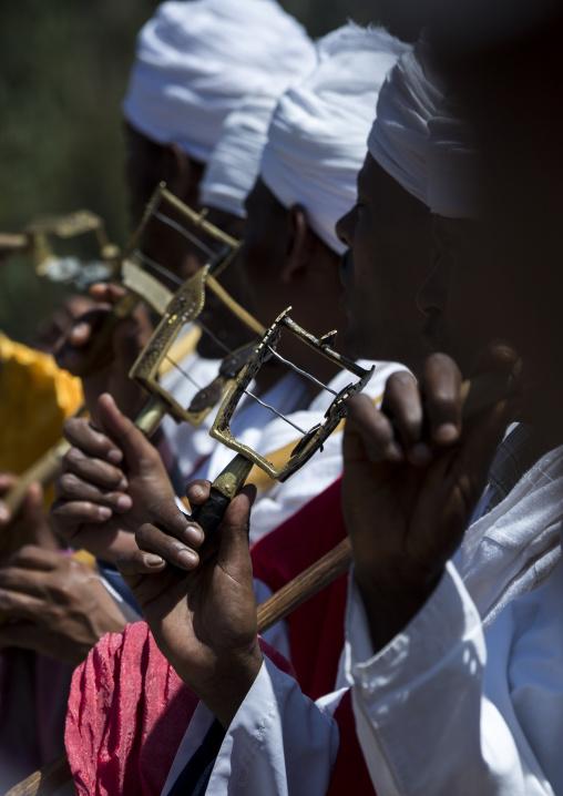 Sistrum Rattles During Ethiopian Orthodox Timkat Epiphany Festival, Lalibela, Ethiopia