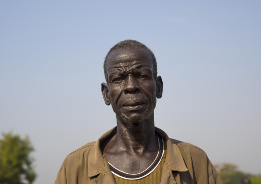 Nuer Tribe Man With Gaar Facial Markings, Gambela, Ethiopia