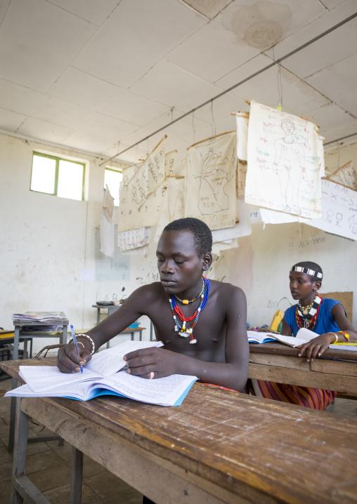 Hamer Tribe Kids In A School, Turmi, Omo Valley, Ethiopia