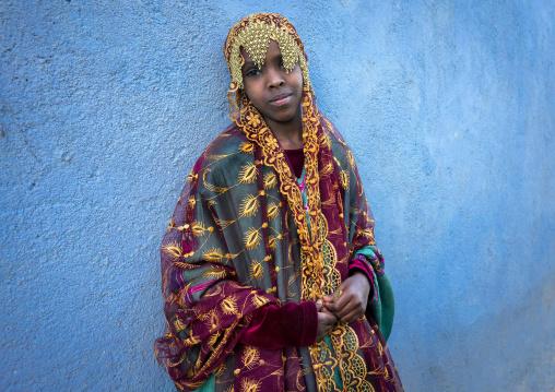 Miss Fayo, An Harari Girl In Traditional Costume, Harar, Ethiopia
