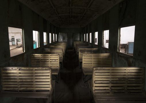Inside Djibouti Addis Ababa Old Train, Dire Dawa Train Station, Ethiopia