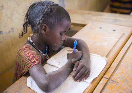 Afar Girl In Kebir Tobolo School, Afambo, Ethiopia
