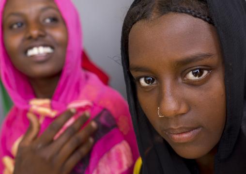 Afar Tribe Girls, Afambo, Afar Regional State, Ethiopia