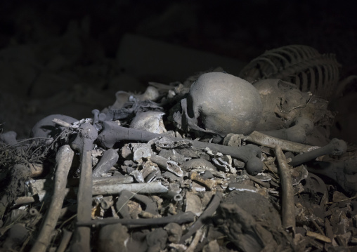 Yemrehana Krestos Rock Church Skeletons And Mumies, Lalibela, Ethiopia
