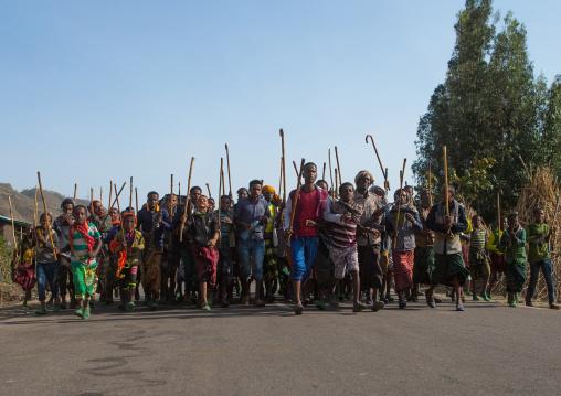 Oromo people during a wedding celebration, Oromo, Sambate, Ethiopia