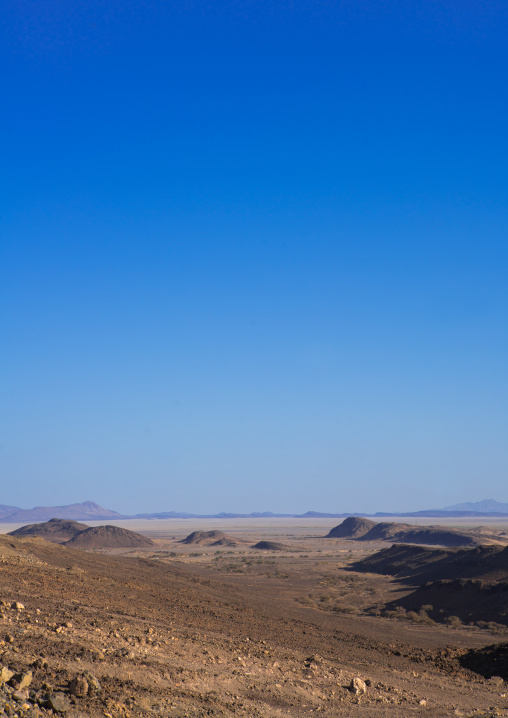 Landscape in the danakil depression, Afar region, Semera, Ethiopia