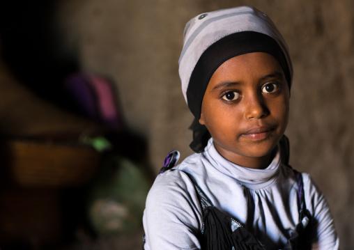 Portrait of an amahara girl, Afar region, Assayta, Ethiopia