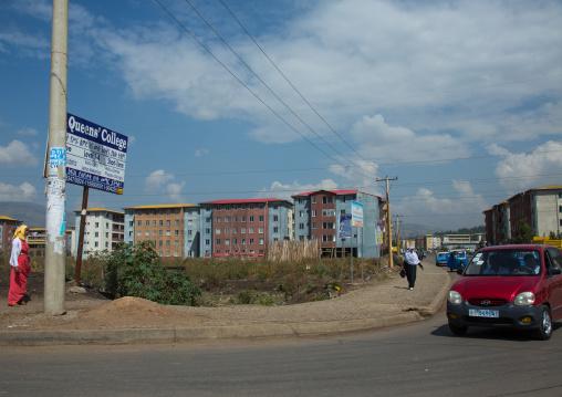 Popular and middle class new apartments blocks, Addis abeba region, Addis ababa, Ethiopia
