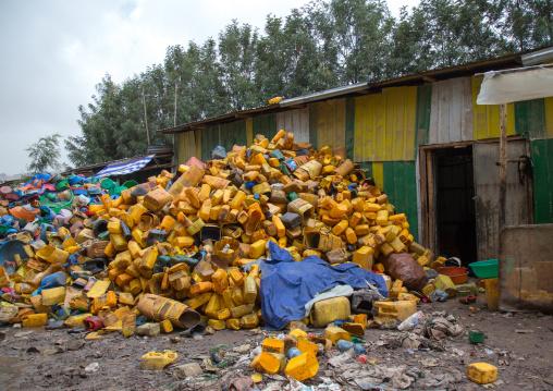Jerricans in a recycling plant, Addis abeba region, Addis ababa, Ethiopia