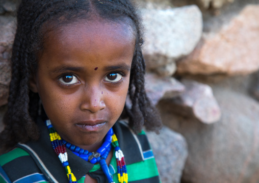Portrait of an Argoba tribe girl, Harari Region, Koremi, Ethiopia
