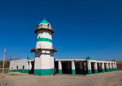 Sultan Alimirac Canfere mosque and its famous minaret, Afar region, Assaita, Ethiopia