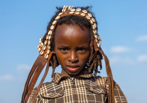 Dabale age grade boy during the Gada system ceremony in Borana tribe, Oromia, Yabelo, Ethiopia
