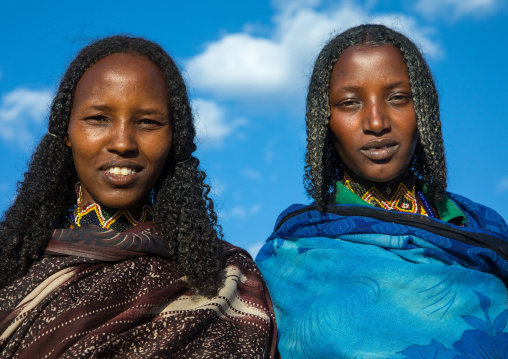 Borana tribe women portrait during the Gada system ceremony, Oromia, Yabelo, Ethiopia