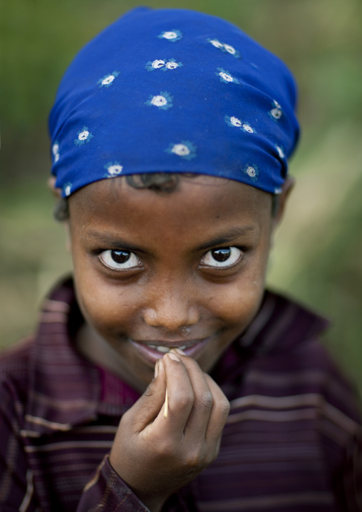 Young girl with a scarf, Ethiopia