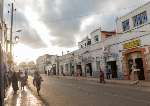 Street leading to the old town, Harari region, Harar, Ethiopia