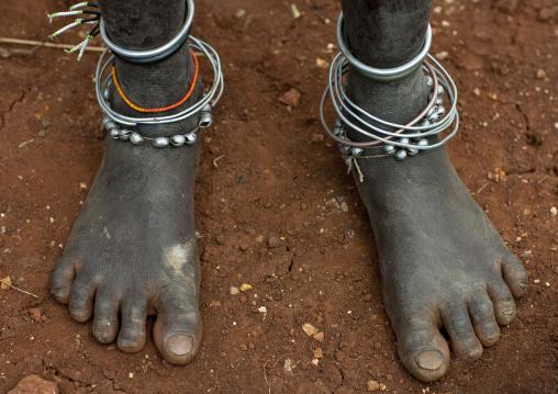 Surma Ankle Bracelets, Kibbish Village, Vallee De L Omo, EthiopÏe