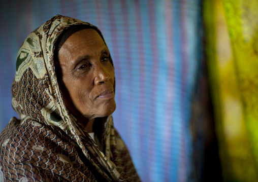 Old veiled woman, Ethiopia