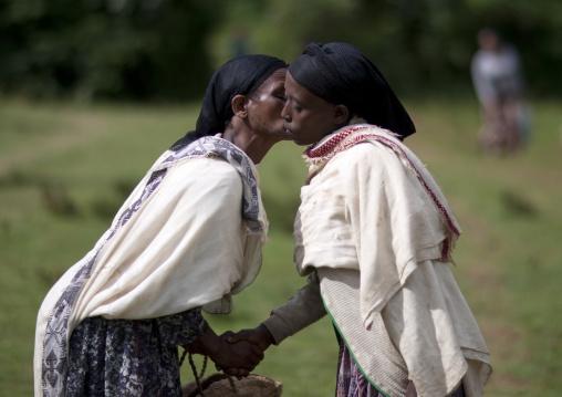 Women kissing, Ethiopia