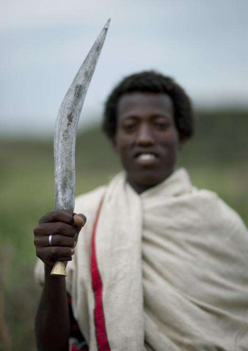 Karrayyu Man Holding A Gile, Ethiopia