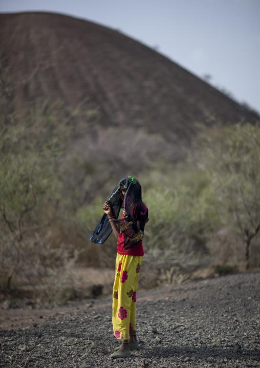 Veiled Karrayyu Girl, Methara Town, Ethiopia
