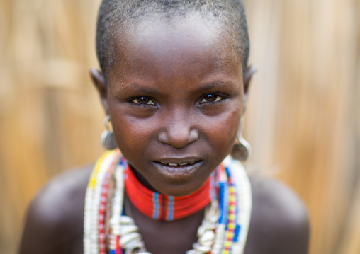 Portrait of an Erbore tribe girl, Omo valley, Murale, Ethiopia