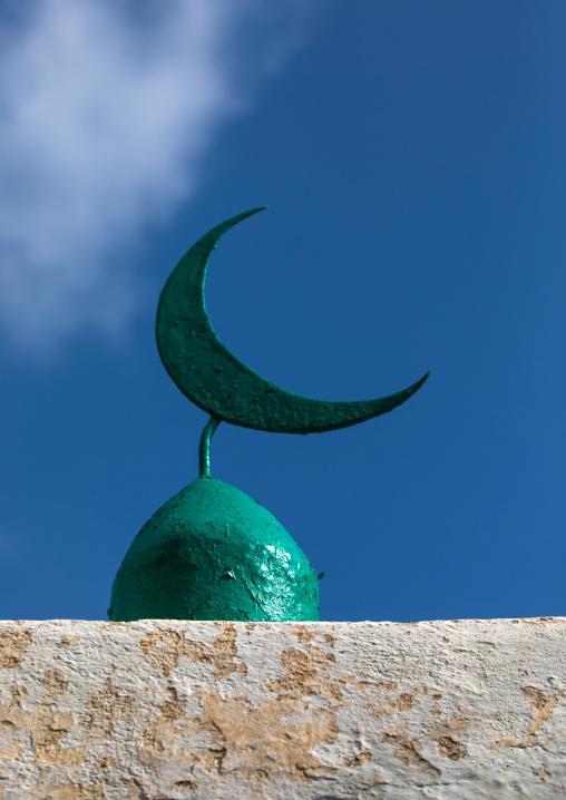 Muslim crescent on the top of a mosque, Harari Region, Harar, Ethiopia
