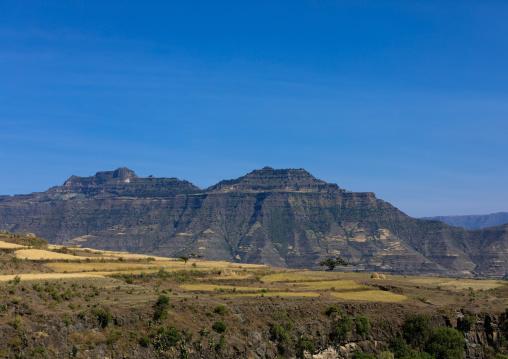 Mountainous landscape, Amhara Region, Lalibela, Ethiopia